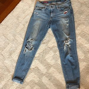 """Red Engine """"Ripped"""" Jeans"""